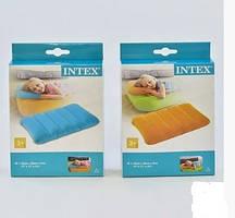 Подушка надувная Intex,цветная,велюр 43-28-9см