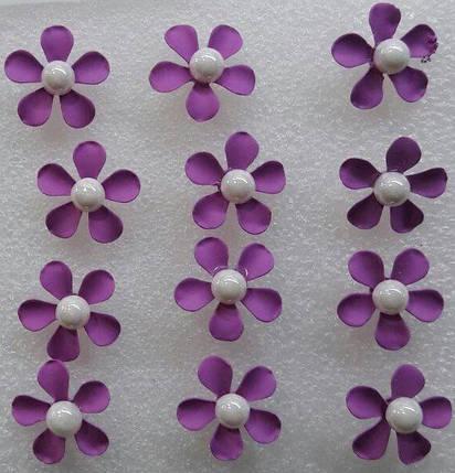 """Сережки-гвоздики """"Квітка"""" / ціна за пару, фото 2"""