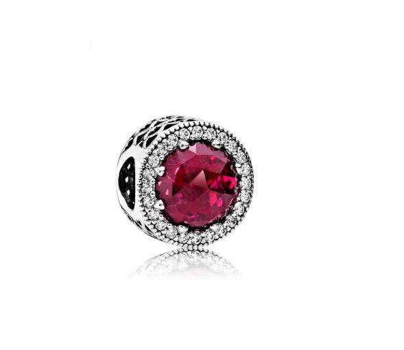 Бусина шарм красная серебряная подвеска Pandora Пандора серебро