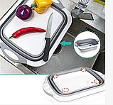 Доска-миска, доска разделочная трансформер для кухни Chopper, складная 3 в 1, фото 5