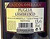 Вино игристое красное Lambrusco Rosso Amabile La Colombara 1.5 л Италия, фото 3