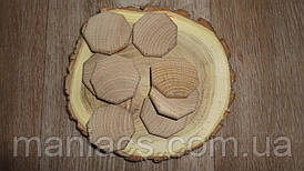 Заготівля деревянныа восьмикутник. Дуб 4 см