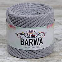 Трикотажная пряжа Barwa (7-9 мм), цвет Серый меланж