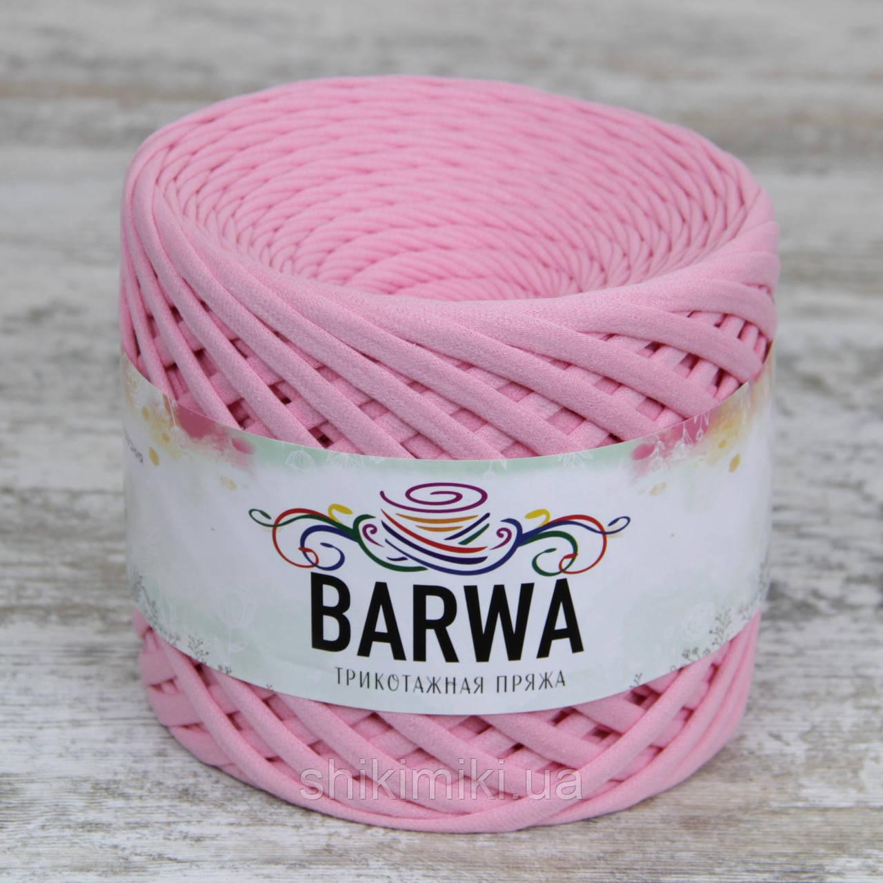 Трикотажная пряжа Barwa (7-9 мм), цвет Клубничный мусс