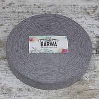 Трикотажная пряжа Barwa в роликах, цвет Серый меланж