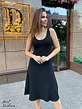 Платье женские летнее миди красное, чёрное, пудра 42-44, 44-46, фото 3