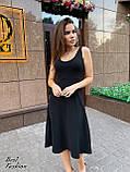 Платье женские летнее миди красное, чёрное, пудра 42-44, 44-46, фото 6
