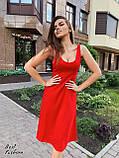 Платье женские летнее миди красное, чёрное, пудра 42-44, 44-46, фото 5