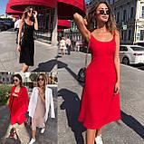 Платье женские летнее миди красное, чёрное, пудра 42-44, 44-46, фото 7