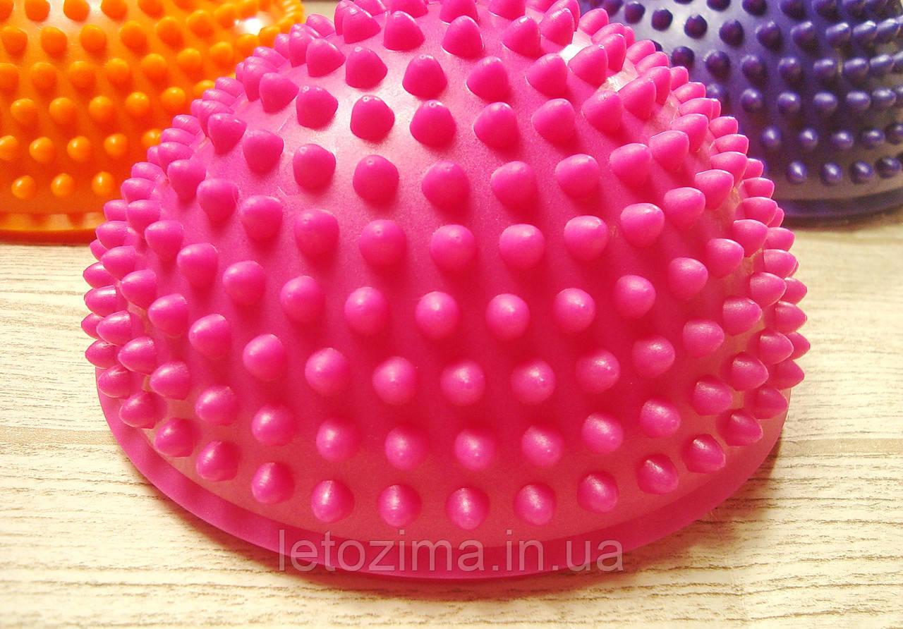 Балансировочная полусфера D=16см, h=9см (1 шт.) Розовая