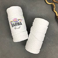 Шнур хлопковый крученый 4 мм Цвет БЕЛЫЙ