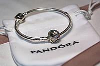 Бусина шарм радуга подвеска для браслета Pandora Пандора серебряная, фото 1