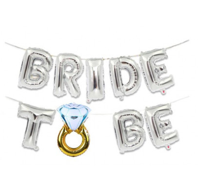 Шары Bride to be в серебре