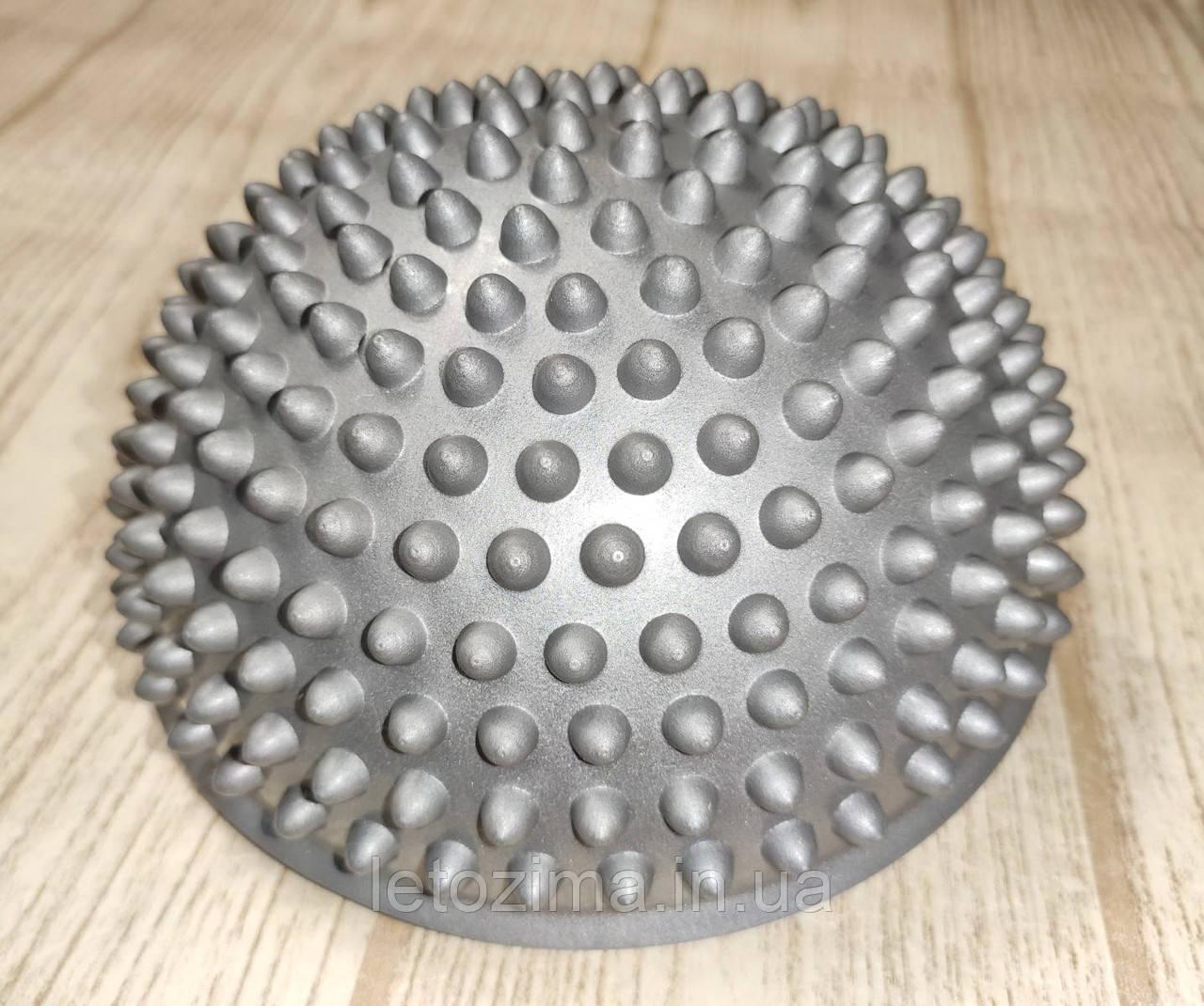 Балансировочная полусфера D=16см, h=9см (1 шт.) Серебристо - Серый
