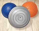 Балансировочная полусфера D=16см, h=9см (1 шт.) Серебристо - Серый, фото 2
