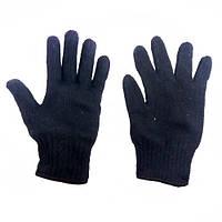 Перчатки теплые вязаные двойные стандарт
