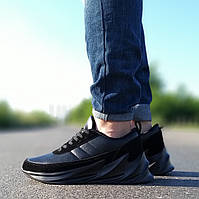 Мужские черные кроссовки в стиле Аdidas Shark