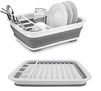 Складная сушилка для посуды. Сушилка для мытья и хранения посуды