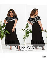Сукня довга штапель великі розміри / платье длинное батальное штапель с ярким принтом 50 52 54 56 58 60