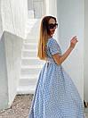Длинное летнее платье в горошек на запах с коротким рукавом 36plt1372, фото 7