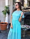 Шифоновое летнее платье с расклешенной юбкой и коротким рукавом 36plt1373, фото 2