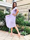 Шифоновое летнее платье с расклешенной юбкой и коротким рукавом 36plt1373, фото 3