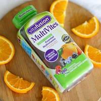 VitaFusion, MultiVites, Женский мультивитамины, натуральный ягодный, персиковый и апельсиновый вкусы