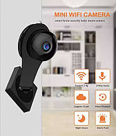 Mini camera WiFi Умный дом на подставке с креплением двухсторонняя связь