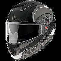 MT ATOM SV QUARK A0 Gloss/Matt Pearl White, XS Мотошлем модуляр с очками