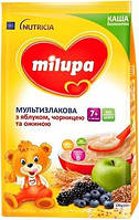 Каша безмолочная детская Нутриция Milupa (Милупа) Мультизлаковая с яблоком, черникой и ежевикой с 7-ми месяцев
