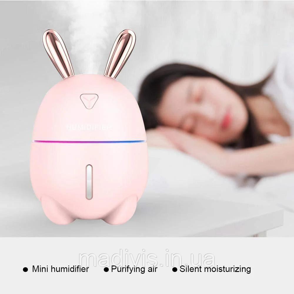 Міні Зволожувач-нічник Rabbit (рожевий)