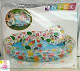 """Intex Бассейн 59460 """"Звёзды"""" Мячик и Круг, детский, 2 кольца, цветной с набором, размером 122х25см, от 2-х лет, фото 4"""