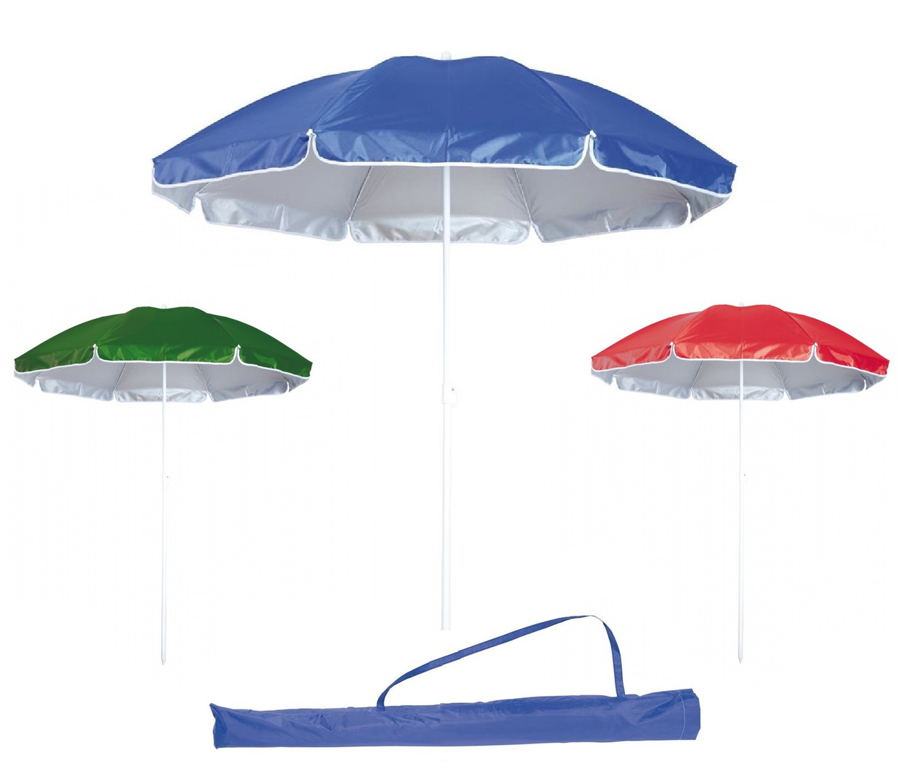 Зонт пляжный садовый с наклоном, диаметр 2 м с защитой отUV-лучей