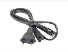 Сетевой шнур для радиоприемника, черный/толще (300 шт/ящ)