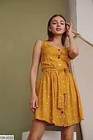 Женское летнее платье / сарафан в горошек