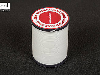 Galaces 1.00мм белый (S000) плоский шнур вощёный по коже