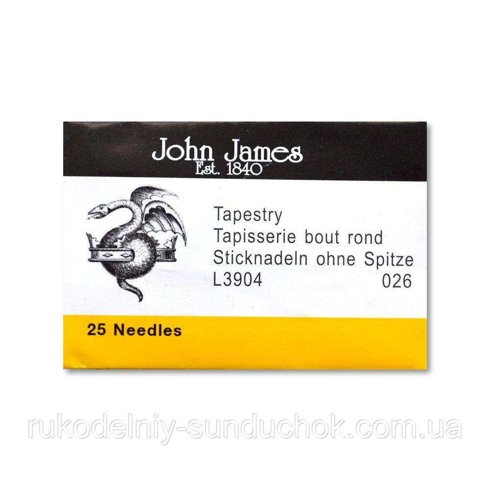 Набор гобеленовых игл John James (Англия) Tapestry/Cross Stitch №26 (25 шт) L3904-026
