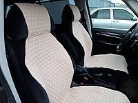 Накидки (чехлы / майки) на сиденье автомобиля из хлопка универсальные, IMAN, одна передняя, 11