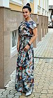 Платье женское до пола с внутренними карманами
