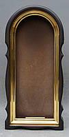 Арочный фигурный киот с золоченной рамой, фото 6