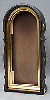 Арочный фигурный киот с золоченной рамой, фото 2
