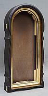 Арочный фигурный киот с золоченной рамой, фото 9