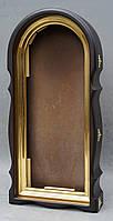 Арочный фигурный киот с золоченной рамой, фото 3