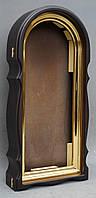 Арочный фигурный киот с золоченной рамой, фото 4