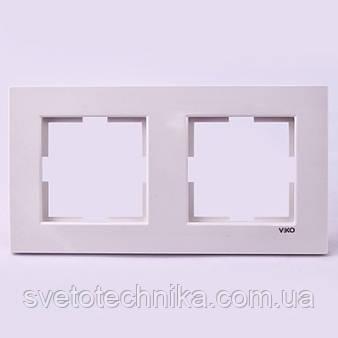 Двойная рамка VI-KO Karre горизонтальная скрытой установки (белая)