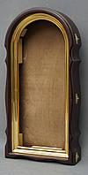 Арочный фигурный киот с золоченной рамой, фото 5