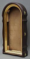 Арочный фигурный киот с золоченной рамой, фото 7