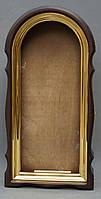 Арочный фигурный киот с золоченной рамой, фото 8