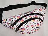 Сумка на пояс INS Ткань Принт спортивные барсетки сумка только опт, фото 2