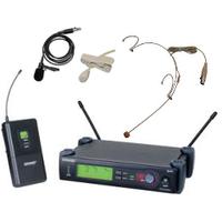Радио-микрофон SLX4-SHURE наголовный (Один белый наголовный или петличный радио микрофона на одной базе )